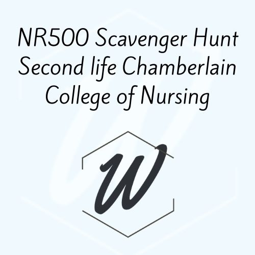 NR500 Scavenger Hunt Second life Chamberlain College of Nursing