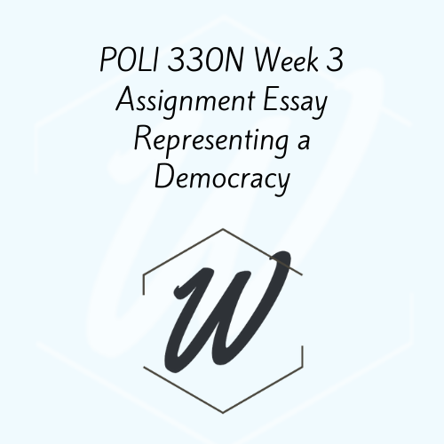 POLI 330N Week 3 Assignment Essay Representing a Democracy