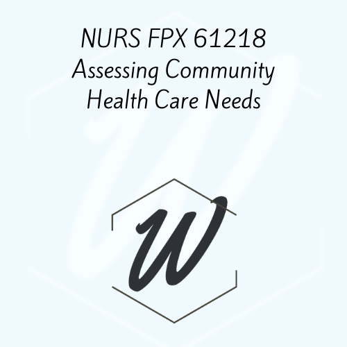 NURS FPX 61218 Assessing Community Health Care Needs