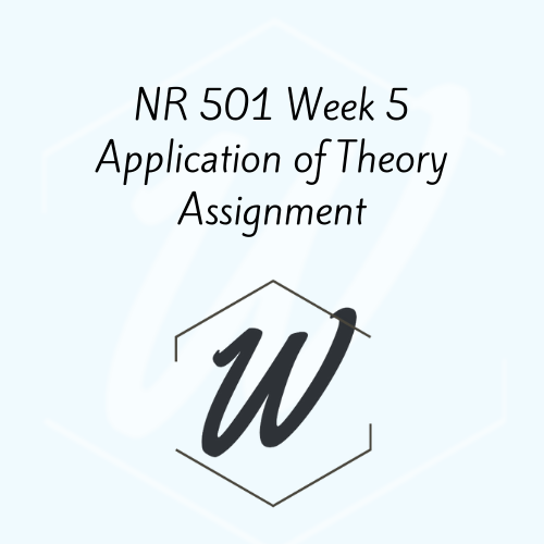 NR 501 Week 5 Application of Theory Assignment