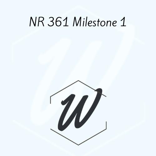 NR 361 Milestone 1